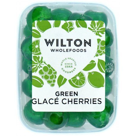 Green Glace Cherries 180g