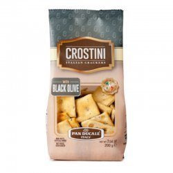 Crostini - Italian Crackers - with Black Olives 200g